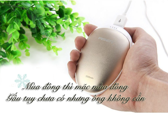 Pisen Charger For Warming Hands 5000mAh