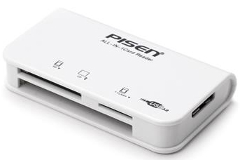 Đọc thẻ Pisen 3-In- 1USB3.0 (3Slot) 1.SD/SDHC; 2. CF; 3.T-Flash/Micro SD/Micro SDHC